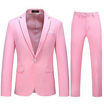 Allthemen Men's Anzüge 2-Pieces Anzüge schlanke vier Jahreszeiten Anzug Jacke & Hose 5 Farben