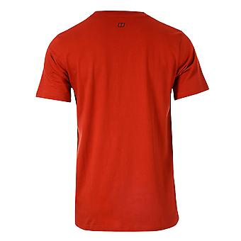 Mens Berghaus Outline Logo T-Shirt In Red