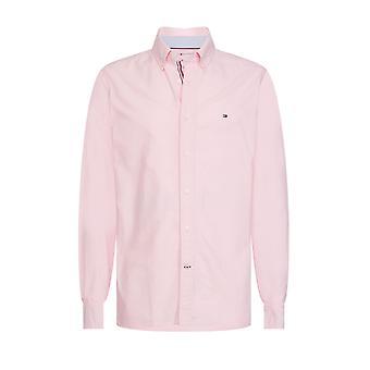 トミー ヒルフィガー オーガニック オックスフォード シャツ ライト ピンク