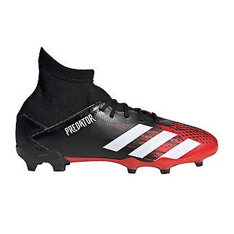 adidas Predator 20.3 FG Firm Ground Junior Kids Football Boot Black