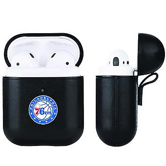 Philadelphia 76ers NBA Fan Brander Zwart Lederen AirPod Case