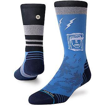 Stance Shatter Crew Socks in Blue