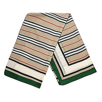 Striped scarf - Green, No. 30