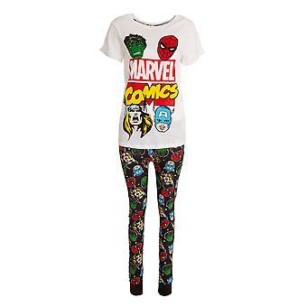 Marvel Womens/Ladies Avengers Pyjama Set