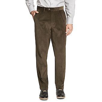 Straight-cut velvet trousers