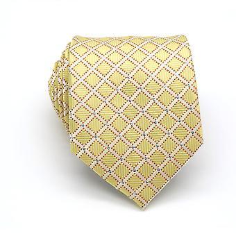 Gouden Indiase bruiloft cross patroon stropdas mannen stropdas