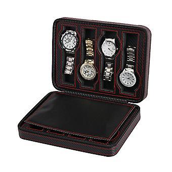 Horloge tas in carbon fiber patroon voor 8 horloges
