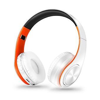ZAPET Wireless Headphones Bluetooth Wireless Headphones Stereo Gaming Orange-White