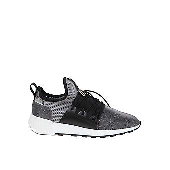 Sergio Rossi A89420mfn9588184 Women-apos;s Grey Fabric Sneakers
