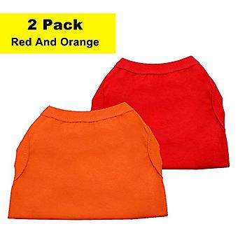 Chol&Vivi Dog Shirts Kleding, Hondenkleding T Shirt Vest Zacht en Oranje, Maat 12