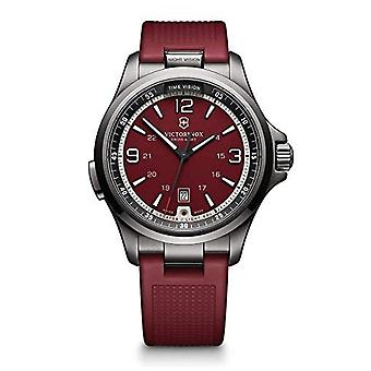 Victorinox Swiss Army Watches 241717 Night Vision Black & Red Men's Chronograph Watch