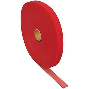FASTECH® T0602513391125 Krok-och-slinga tejp för buntning Krok och slinga pad (L x W) 25000 mm x 25 mm Röd 25 m