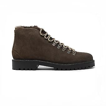 Walk london sean low hiking boots in chocolate suede