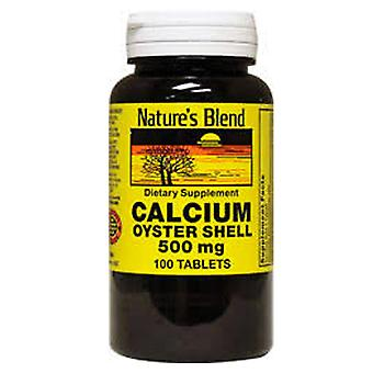 Nature's blend calcium oyster shell, 500 mg, tablets, 100 ea