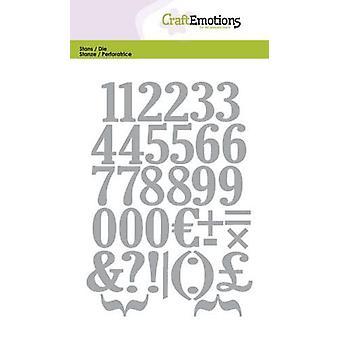 CraftEmotions Die - nummers Kaart 10,5x14,8cm
