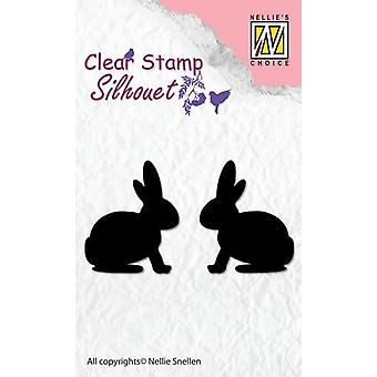 Nellie-apos;s Choice Clear Stamps silhouette Hare SIL030 25x30mm