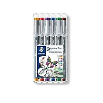 Staedtler pigment liner fineliner - Box 0,5 mm 6 colors 30805-SSB6