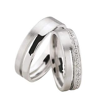 14 carat white gold diamond wedding rings