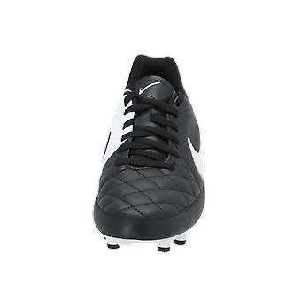 Nike JR TIEMPO GENIO FG Kids Football Shoes Black Sports Shoes