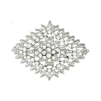 Eternal Collection Carte Blanche Crystal Scarf Clip
