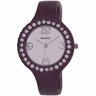 Henley Metallic Purple Crystal Bangle Ladies Fashion Watch H07120.7