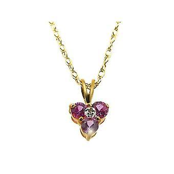 Bijoux pour tous - Chain with women's pendant - 9k yellow gold (375) - 460 mm - code 181P0014-33/9AM