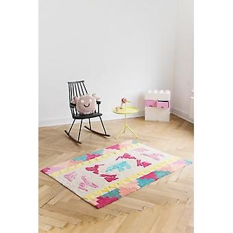 Rectangular carpet baby room 120x170cm Origami Mosaic