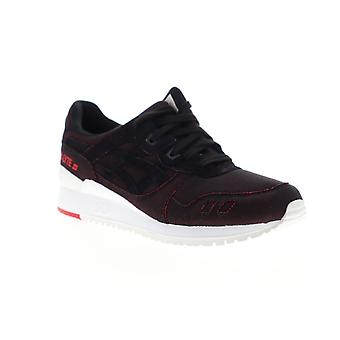 Asics Gel Lyte III  Mens Red Canvas Lace Up Low Top Sneakers Shoes