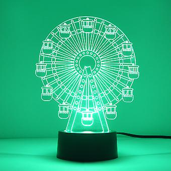 Funfair pariserhjul stort hjul farge skiftende LED akryl lys
