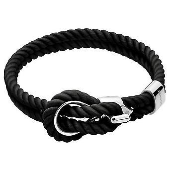 Rochet B3208001 Armband - ACIER UND Cordon Baumwolle Schwarz Männer