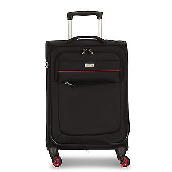 Fabrizio Worldpack District Hand Luggage Trolley S, 4 Ruedas, 55 cm, 27 L, Negro
