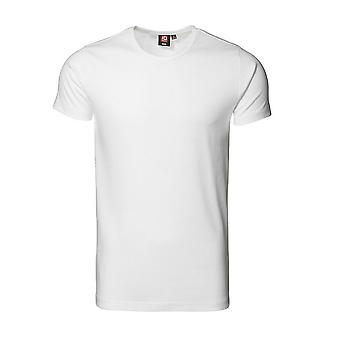 ID Mens 1x1 Rib Fitted Short Sleeve T-Shirt