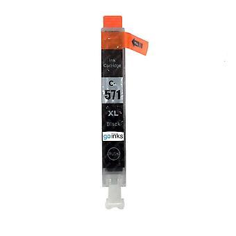 1 musta mustekasetti Canon CLI-571Bk -yhteensopivan/ei-OEM-laitevalmistajan korvaamiseksi Go Inksistä