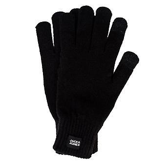 Tillbehör Jack Jones Oliver Stickade Touch Sceen Handskar i svart