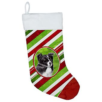 Border Collie Candy Cane Holiday Christmas  Christmas Stocking SC9327