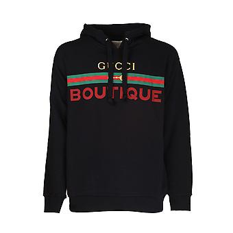 Gucci 623244xjckx1082 Men's Black Cotton Sweatshirt