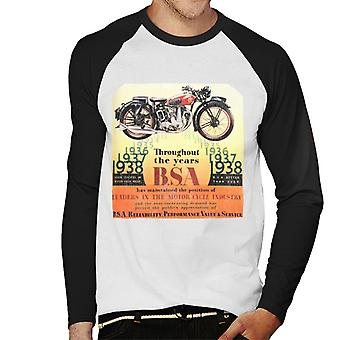 BSA Door de jaren heen Men's Baseball Long Sleeved T-Shirt