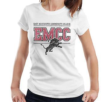 East Mississippi Community College mörkt nödställda lejon logo typen kvinnor ' s T-shirt