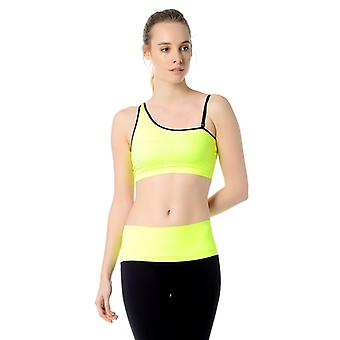 Jerf Womens Bage Neon Yellow Sports Bra