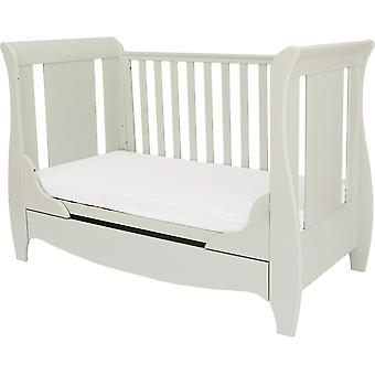 Tutti Bambini Roma Space Saver Sleigh Cot Bed with Drawer