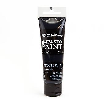 Finnabair Art Alchemy Impasto Paint Pitch Black
