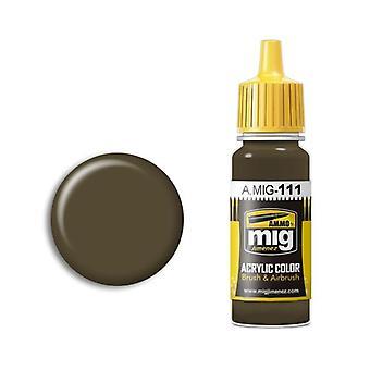 Ammo by Mig Acrylic Paint - A.MIG-0111 SCC 2 (British 1941-42 Service Drab) (17ml)