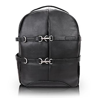 "18795, U Series, Oakland 15"" Leather, Business Casual, Laptop & Tablet Backpack - Black"