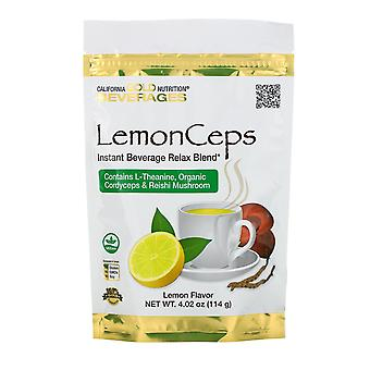 California Gold Nutrition, LemonCeps, Relax Blend Instant Beverage mit L-Theani
