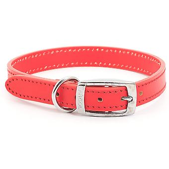 Ancol Heritage Leather Collar - Red - 25mm x 45-54cm (Size 6)