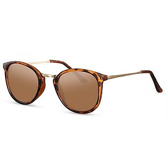 Sunglasses Unisex Panto Flamed Brown (CWI527)