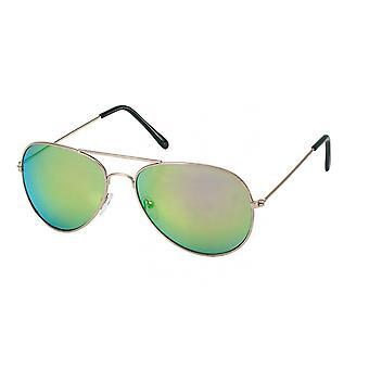 Sonnenbrille Unisex  für   Flieger gold/grün (20-168)