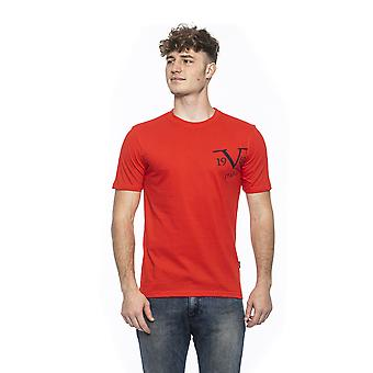 Rosso red crew neck fitted t-shirt