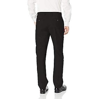 BUTTONED DOWN Men's Tailored Fit Stretch Wool Dress Pant, Black, 36W x 30L
