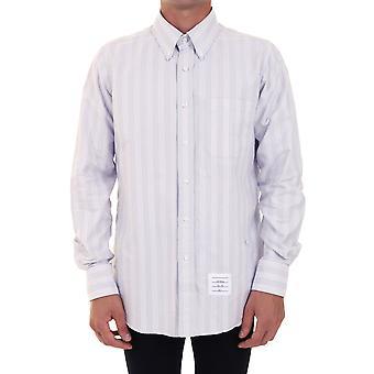 Thom Browne Mwl272a06349035 Heren's Grijs Katoen Shirt